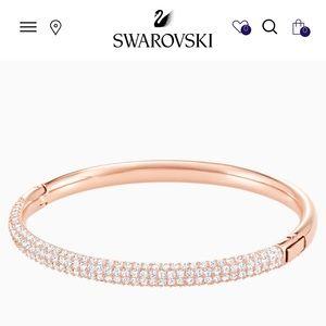 Never warn Swarovski rose gold bracelet.